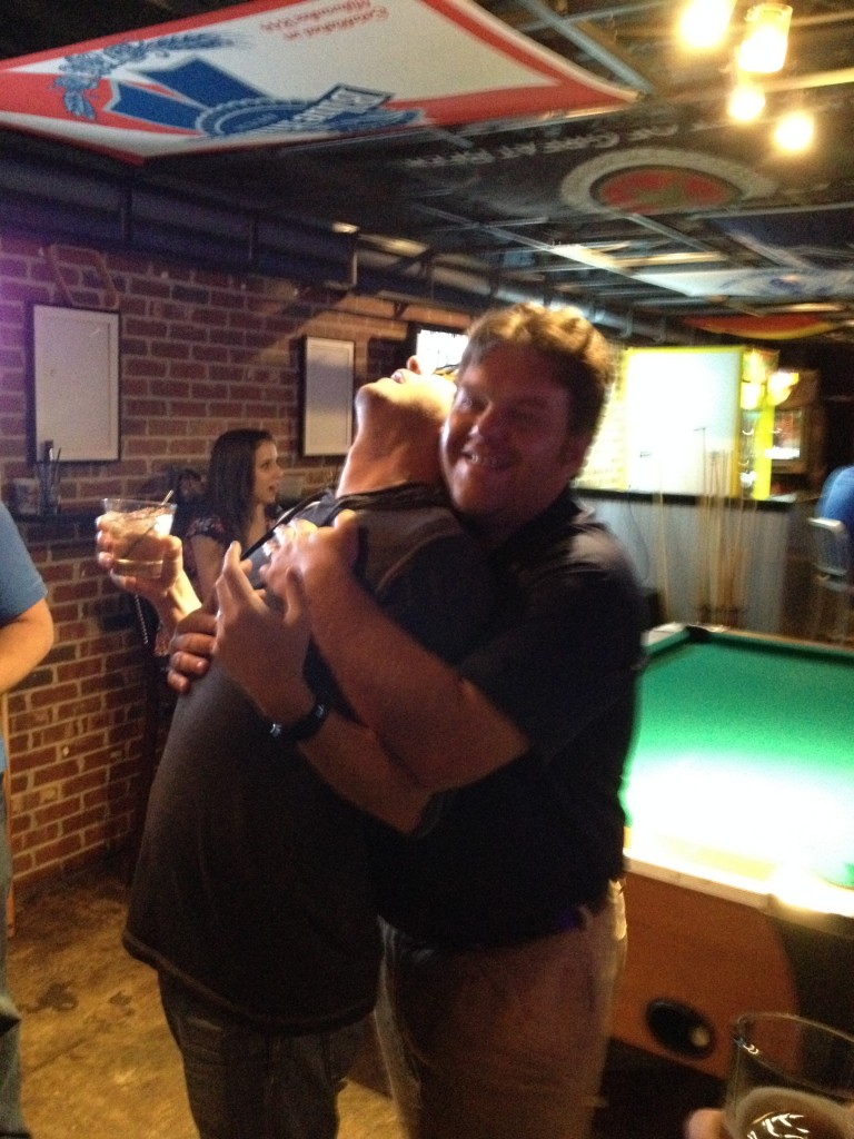 Mike Ferrin Hugging Jason Parks